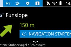 Pistennavigation in der Daten-Skibrille