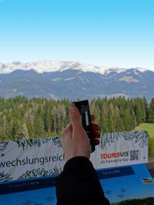 Punktgenaue Berggipfelbestimmung mit dem Smartphone
