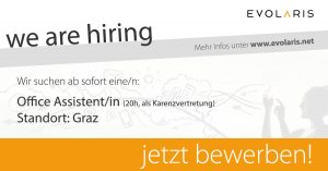 Office Assistent/in (Teilzeit 20h, als Karenzvertretung)