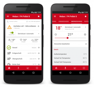 Mit der Fröling Connect App die Heizungsanlage jederzeit von überall steuern